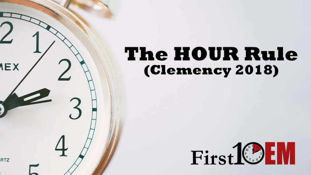 The HOUR rule Clemency 2018