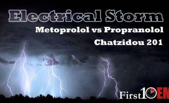 electrical storm beta-blocker