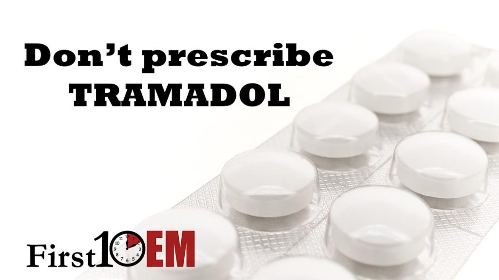 Don't prescribe tramadol