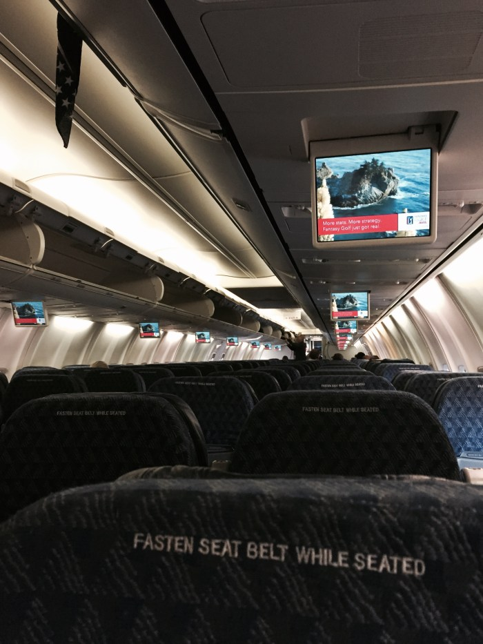 AA 737 - last row middle seat