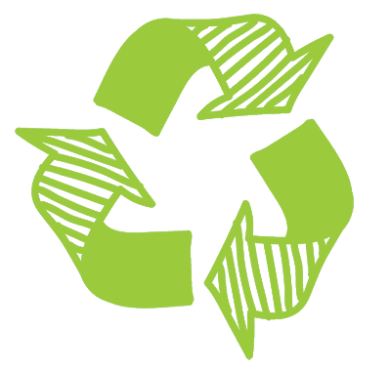 the green recycling symbol