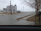 Road in front of our shore house after a nasty storm