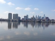Mirror image of the Philly skyline