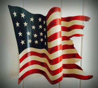 Flag metal