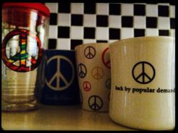 Peace mugs and cups
