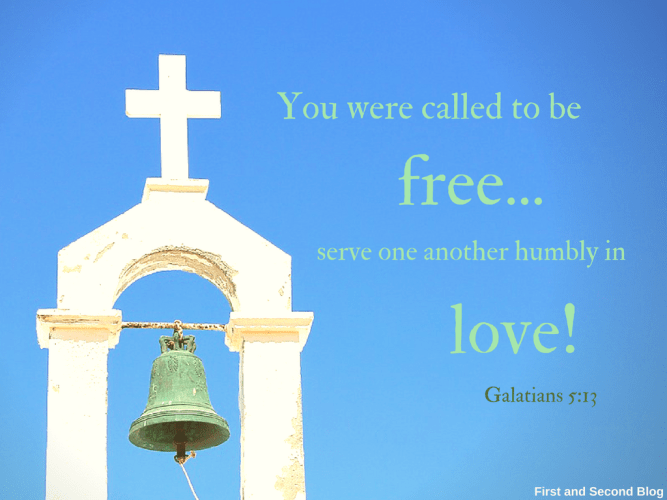 Christians are free to love because of Jesus' work on the cross!
