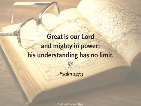 Bible verse about God's greatness and understanding