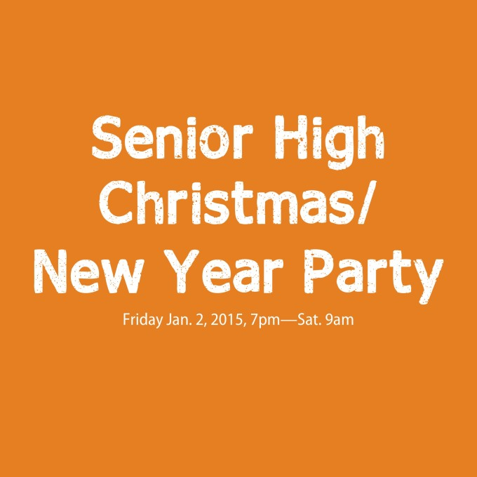 Senior High Christmas New Year Party