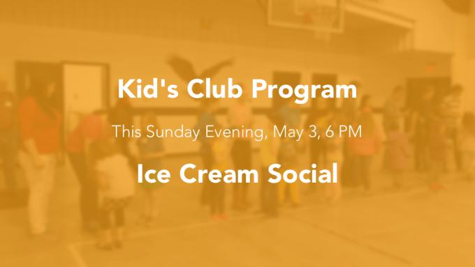 kids club program May 3