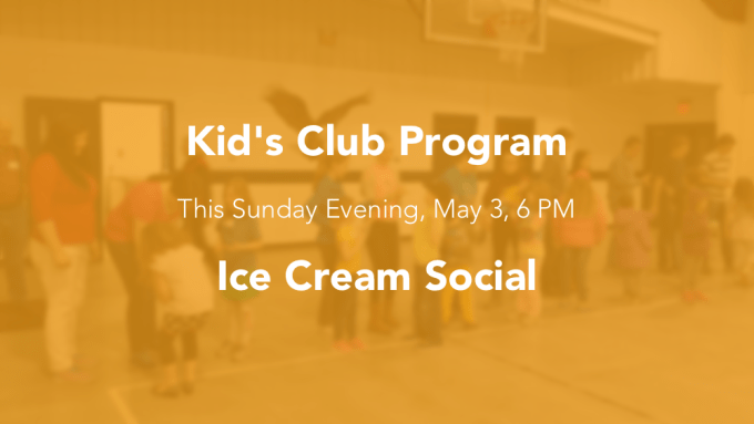 kids club program May 3