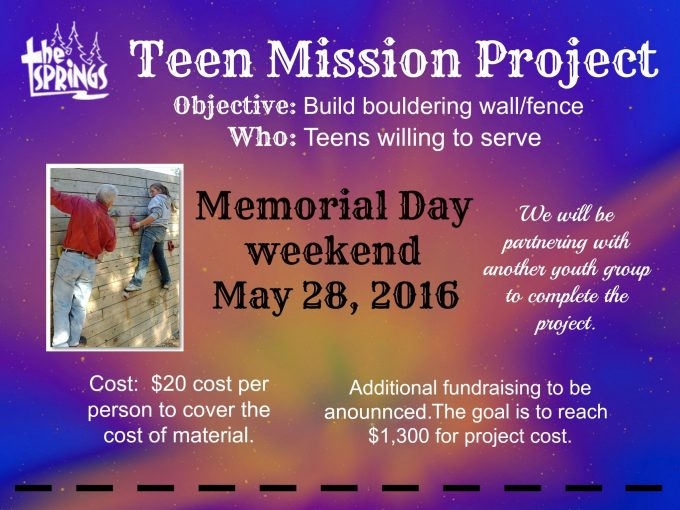 Teen Mission Project
