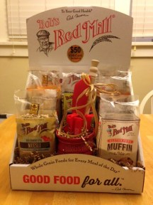 A gift basket courtesy of Bob's Red Mill.