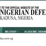 Nigerian Defence Academy Application For 71st Regular Course Admission.