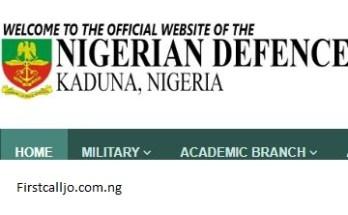 Nigerian Defence Academy application