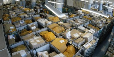 packages in a mail room