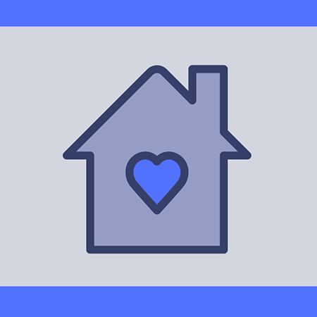 A house with a heart in it
