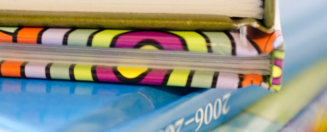Hard cover books with printed covers: Bright, attractive, and long-lasting. Great for yearbooks, too.