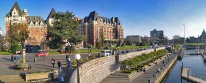Victoria waterfront, The Empress and the Legislature, Creative Commons license Pat David