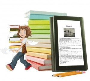 ebook publishing girl with an eReader
