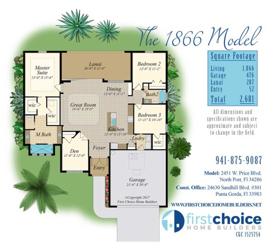 North Port 1866 New Home Model