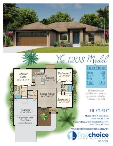 North Port Home Builder 1208 Model