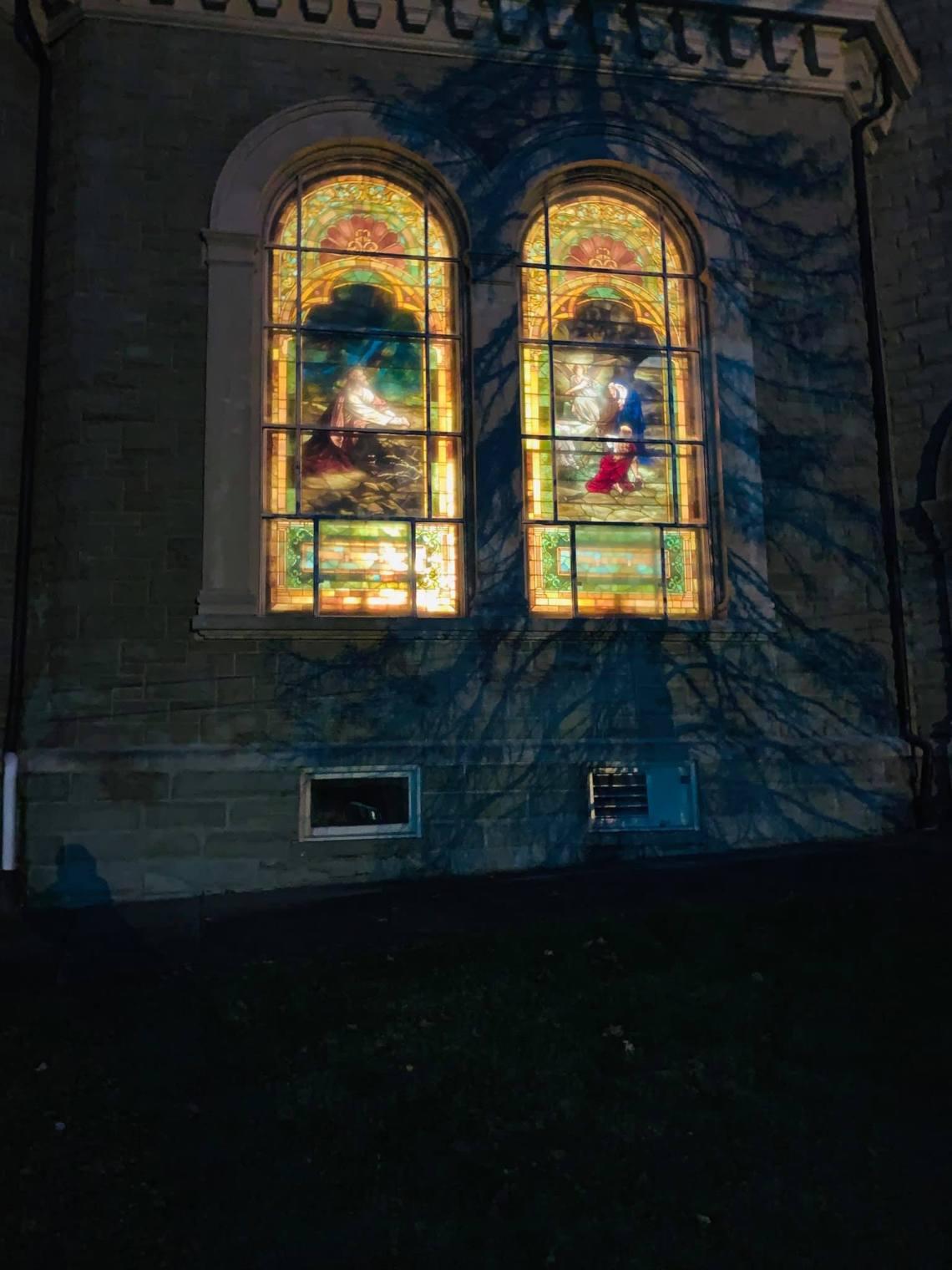 The windows light up at night, 2020!