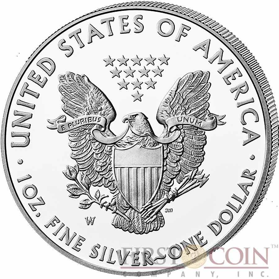 USA American Silver Eagle $1 Gilded 2015 Silver coin 1 oz