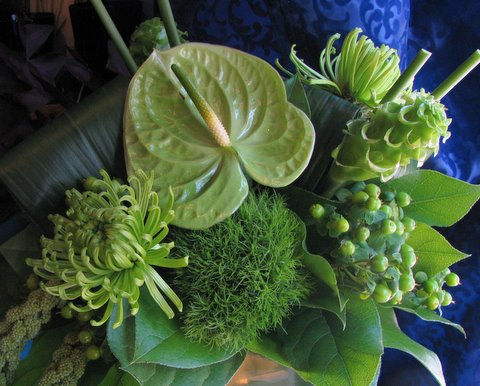 Green Flower Arrangements for St Patricks Day  First Come Flowers