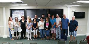 First Contact Ministries support class graduates. July 9, 2019