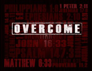 """Overcome"" - Recovery Curriculum by Joshua Staton. Used by First Contact Ministries as part of their addiction / recovery support group curriculum."