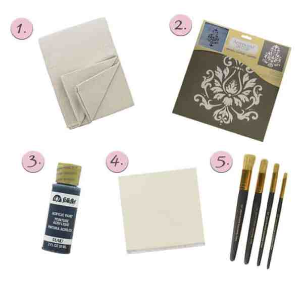 Stenciled Table Runner Supplies
