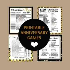Printable Anniversary Games