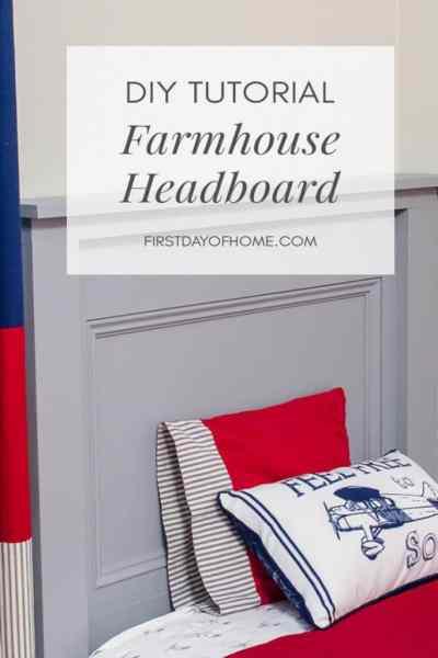 DIY Farmhouse Headboard Tutorial
