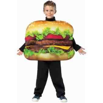 Cheeseburger Food Costume for Kids