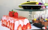 Fris en luchtig: aardbeien bavarois.