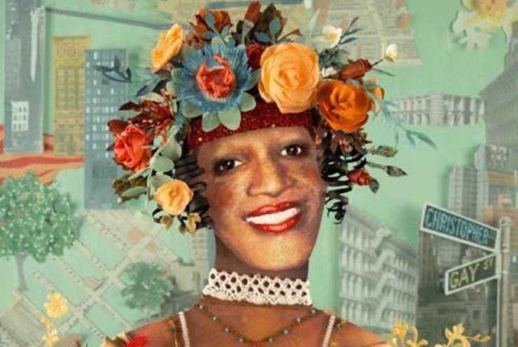 A photo illustration of Marsha P Johnson