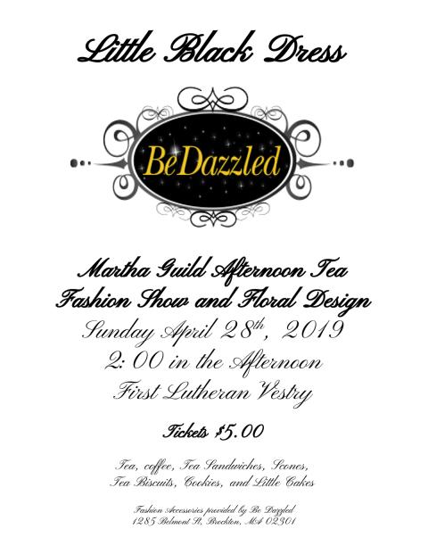 04/28 - Little Black Dress:Martha Guild Afternoon TeaFashion Show and Floral Design @ FELC Vestry