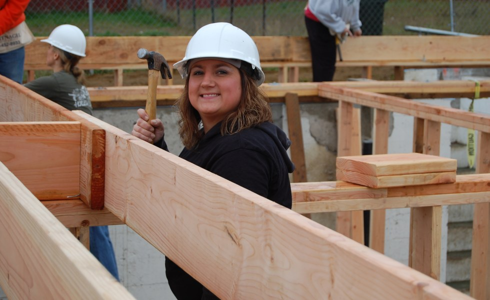 Helping build homes - Habitat for Humanity