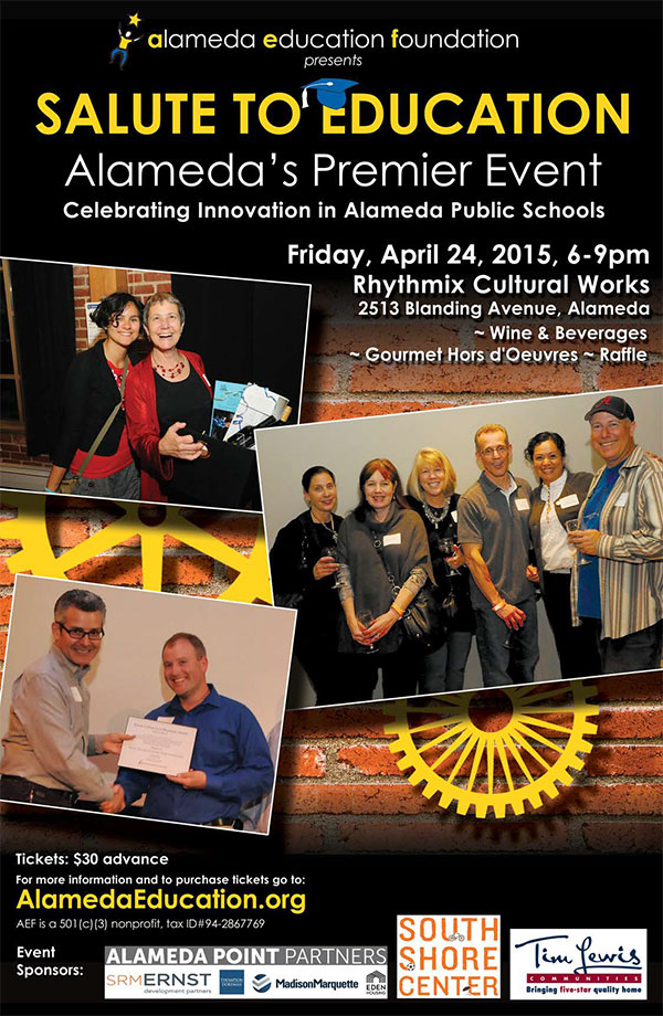 Alameda Education Foundation Salute to Education poster