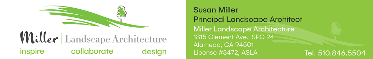 Business card design for MLA Design Group