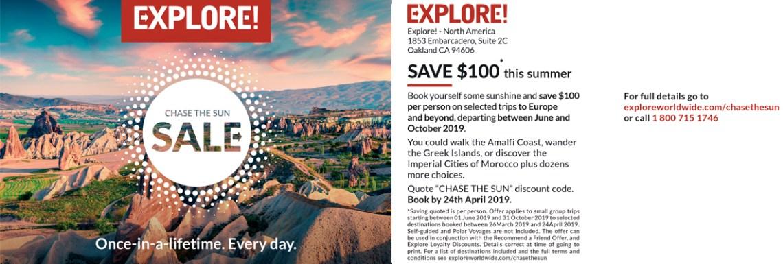 Explore Worldwide postcard