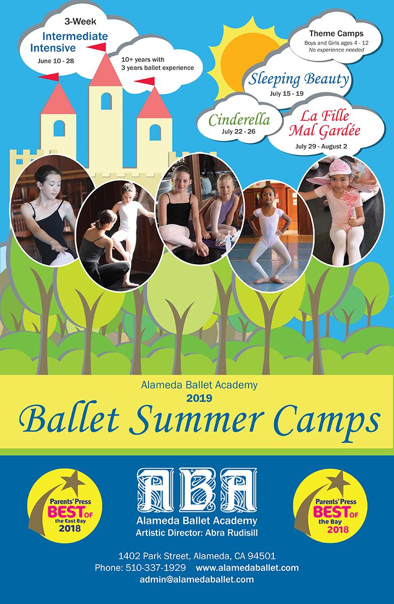 Alameda Ballet Summer Camps brochure and poster