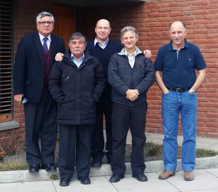 Bishop Pedro Correa, Pastors Ariel Vega, Ronny Pulgar, Daniel Favaro and hno. Pedro Hammond