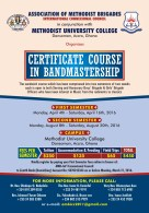 Bandmaster Course offered by Association of Methodist Brigades