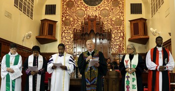 Joint worship and communion service held during the starte of Churches Uniting in Christ (CUIC) plenary  at St. Peter African Methodist Episcopal (AME) Church, St. Lois MO.