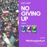 WesleyMen offer #NoGivingUp4Lent program to end world hunger