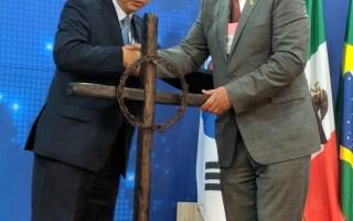 Museum receives sculpture made from Korean DMZ materials