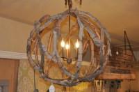 First Fruit Collection: Driftwood Globe Light Fixture