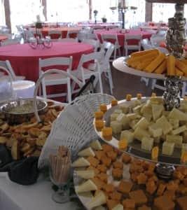 Gourmet Cheeses Display