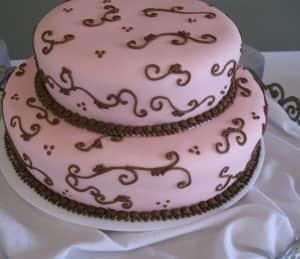 Pink Fondant Damask